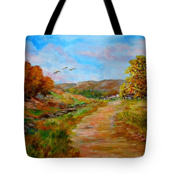 Country Road 2 Tote Bag by Constantinos Charalampopoulos
