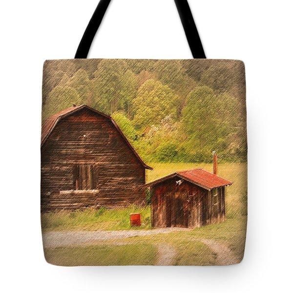 Country Shack Tote Bag by Itai Minovitz