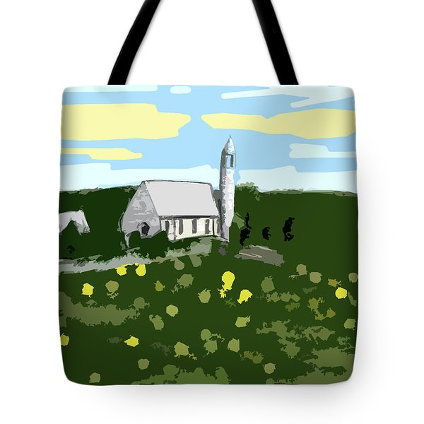 Countryside Church Tote Bag by Patrick J Murphy