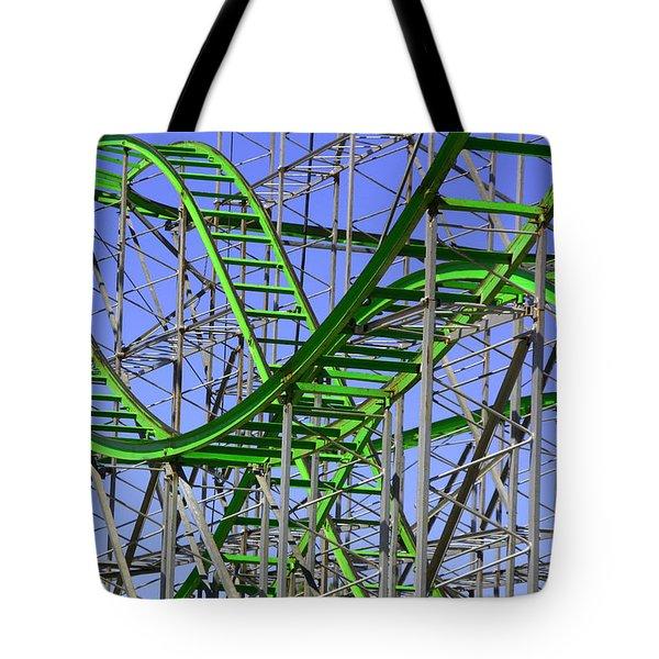 County Fair Thrill Ride Tote Bag by Joe Kozlowski