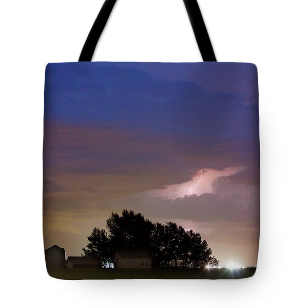 County Line 1 Northern Colorado Lightning Storm Tote Bag by James BO  Insogna