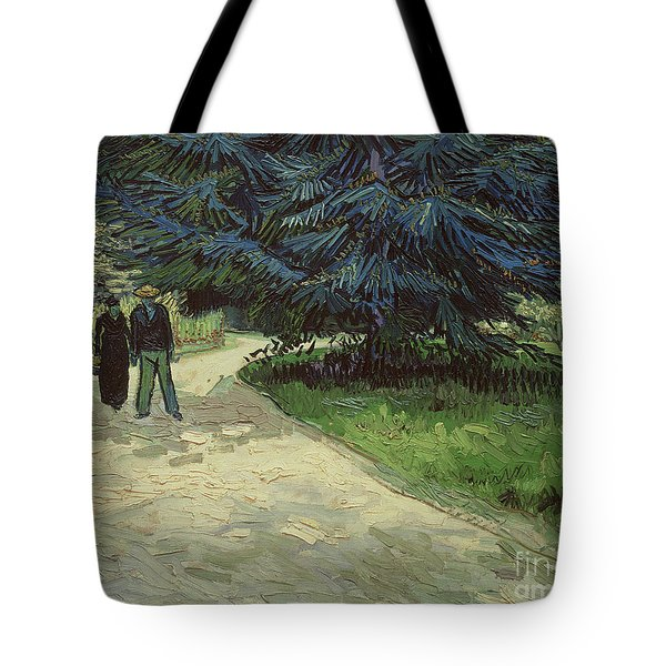 Couple In The Park Tote Bag by Vincent Van Gogh