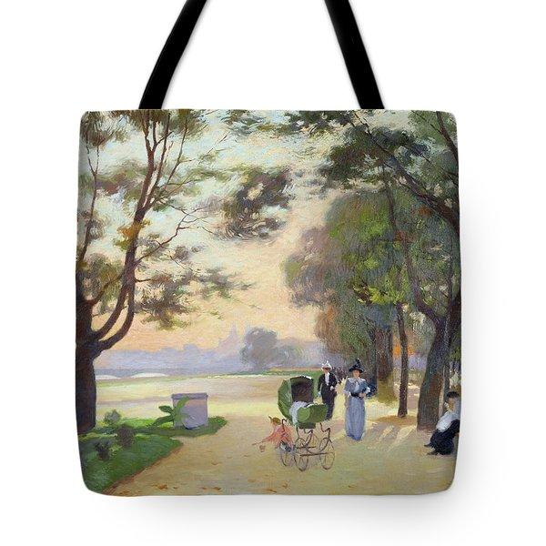 Cours La Reine Paris Tote Bag by Jules Ernest Renoux