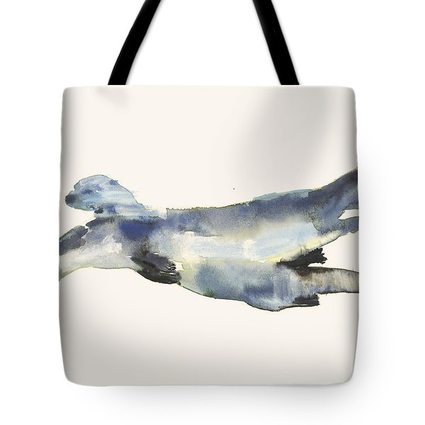 Courting Otters  Tote Bag by Mark Adlington