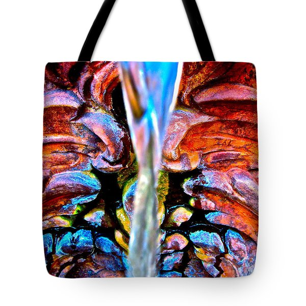 Courtyard Fountain Tote Bag by Gwyn Newcombe