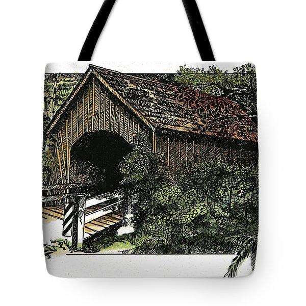 Covered Bridge at Yachats Oregon Tote Bag by Donald Aday