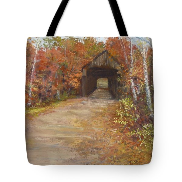 Covered Bridge  Southern NH Tote Bag by Jack Skinner