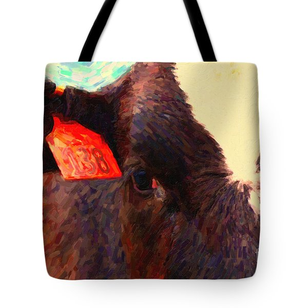 Cow 138 Reinterpreted Tote Bag by Wingsdomain Art and Photography