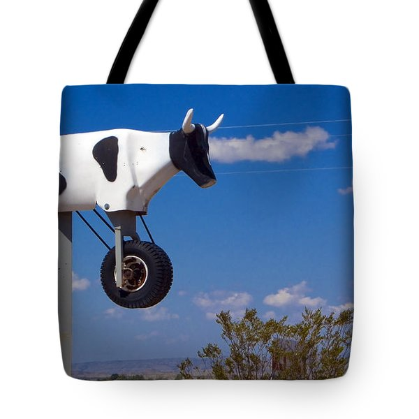 Cow Power Tote Bag by Skip Hunt
