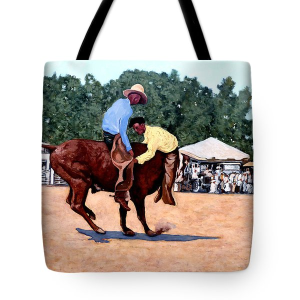 Cowboy Conundrum Tote Bag by Tom Roderick