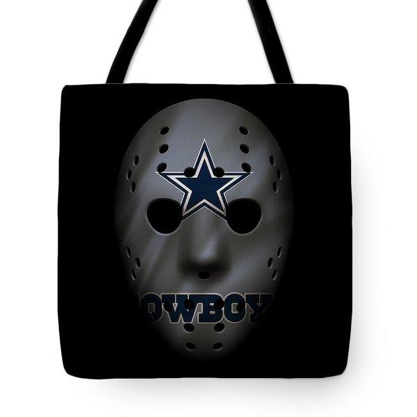 Cowboys War Mask 2 Tote Bag by Joe Hamilton