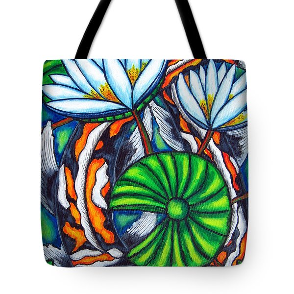 Coy Carp Tote Bag by Lisa  Lorenz
