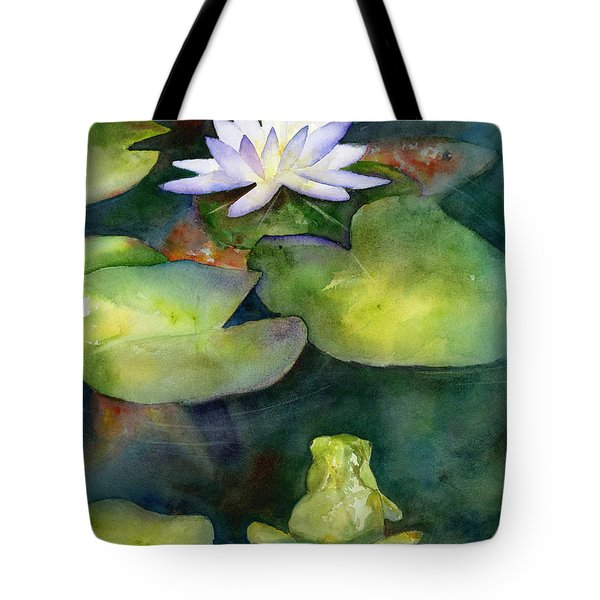Coy Koi Tote Bag by Amy Kirkpatrick