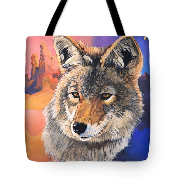 Coyote The Trickster Tote Bag by J W Baker
