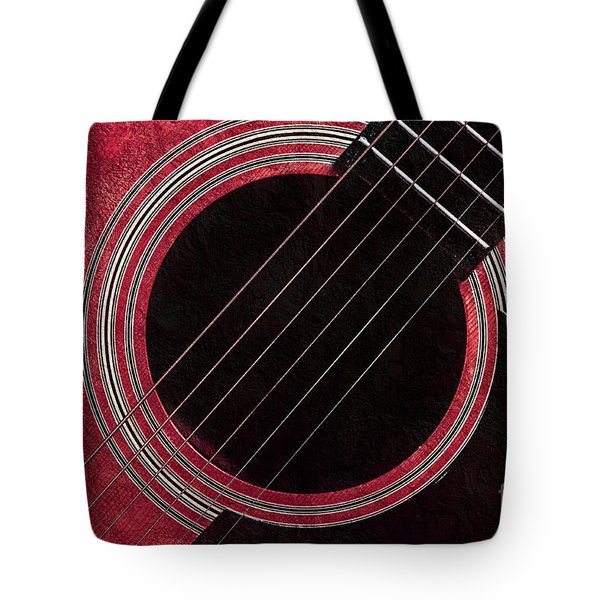 Cranberry Guitar Tote Bag by Andee Design