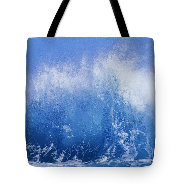 Crashing On Shore Tote Bag by Vince Cavataio - Printscapes