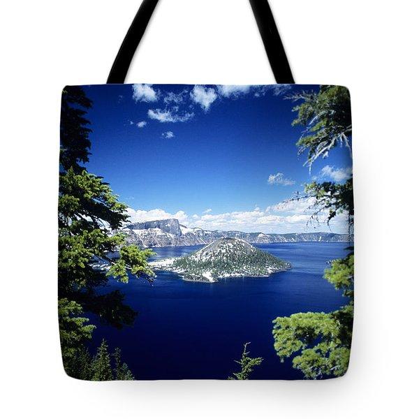 Crater Lake Tote Bag by Allan Seiden - Printscapes