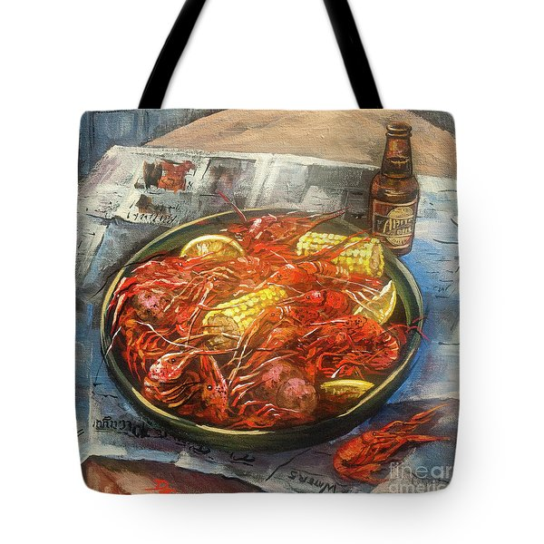 Crawfish Celebration Tote Bag by Dianne Parks