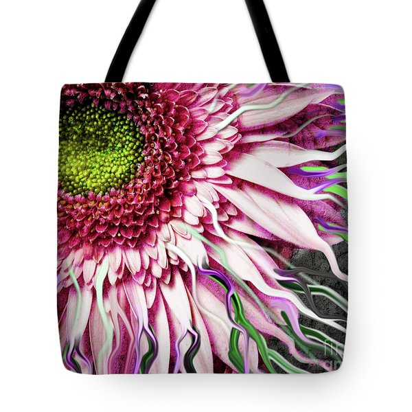 Crazy Daisy Tote Bag by Christopher Beikmann