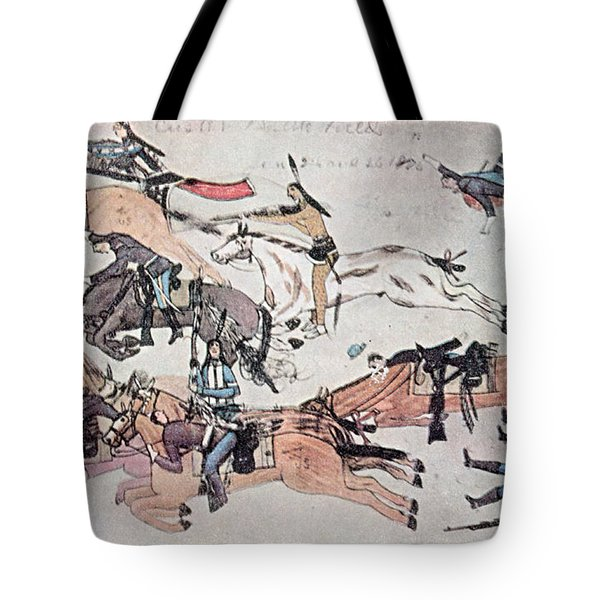 Crazy Horse At The Battle Of The Little Tote Bag by Photo Researchers