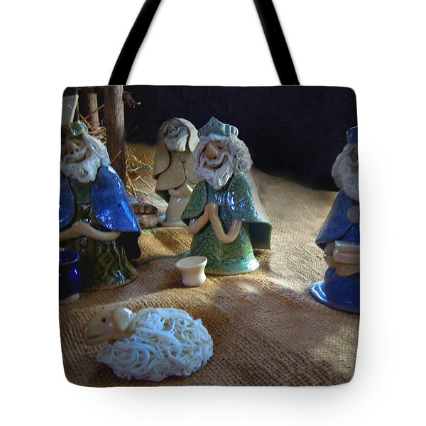 Creche Kings Tote Bag by Nancy Griswold