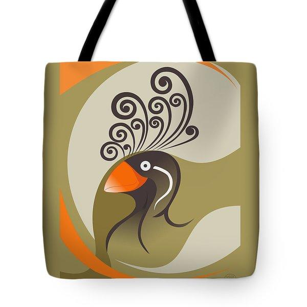 crestedAUKLET Tote Bag by Mariabelones ART