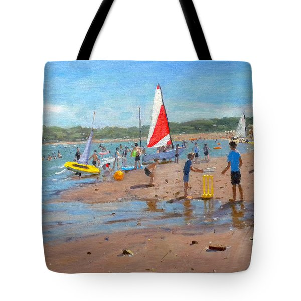 Cricket And Red And White Sail Tote Bag by Andrew Macara