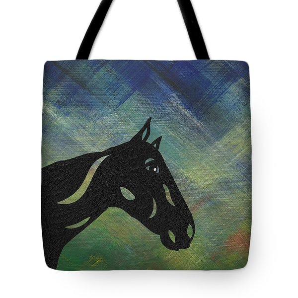 Crimson - Abstract Horse Tote Bag by Manuel Sueess