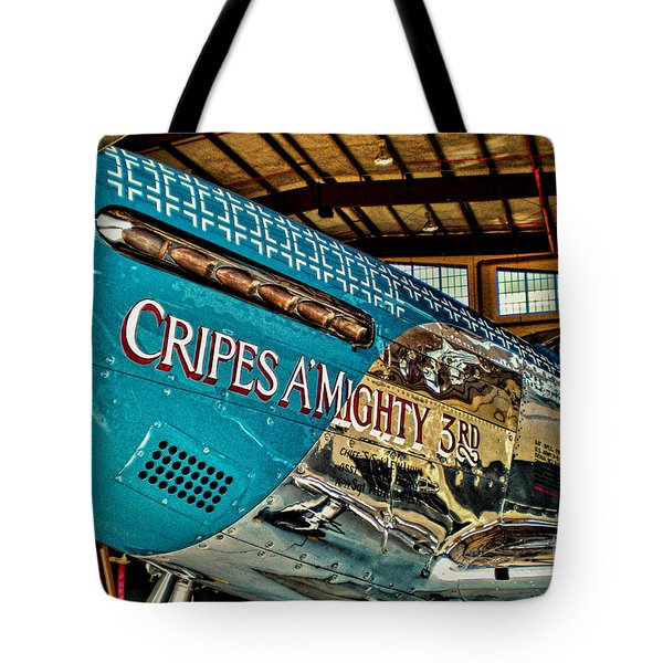 Cripes Almighty Tote Bag by Tommy Anderson