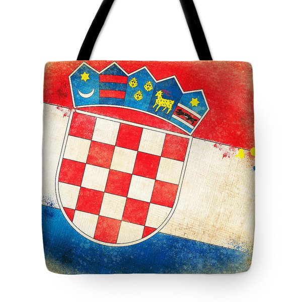 Croatia Flag Tote Bag by Setsiri Silapasuwanchai