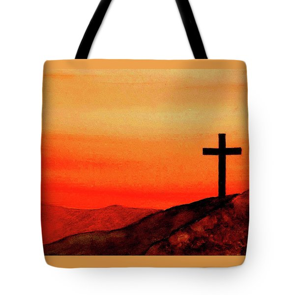 Cross At Sunset Tote Bag by Michael Vigliotti