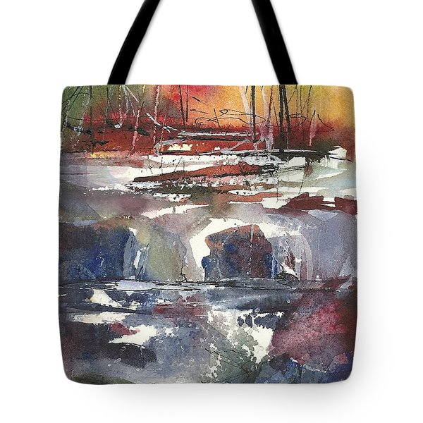 Crosscurrents Tote Bag by Madelaine Alter