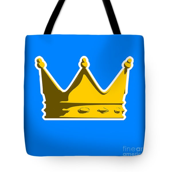 Crown Graphic Design Tote Bag by Pixel Chimp