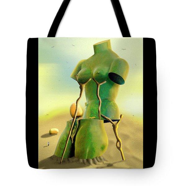 Crutches 2 Tote Bag by Mike McGlothlen