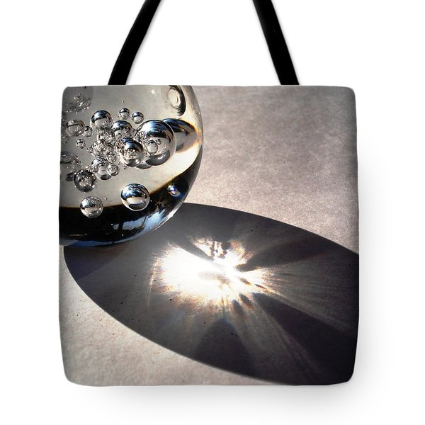 Crystal Ball With Trapped Air Bubbles Tote Bag by Sumit Mehndiratta