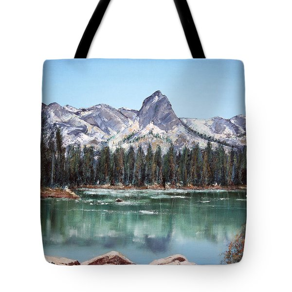 Crystal Crag From Twin Lakes Mammoth Ca Tote Bag by Arline Wagner