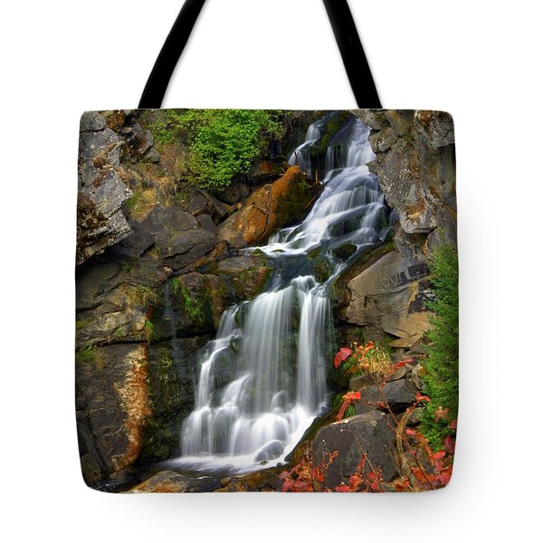 Crystal Falls Tote Bag by Marty Koch