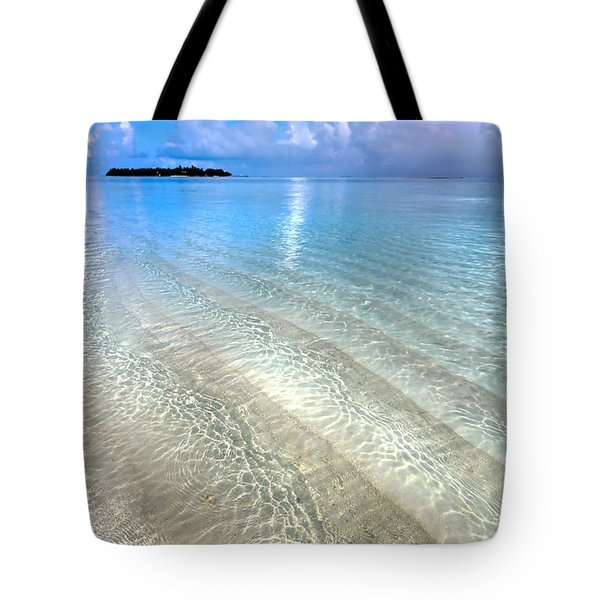 Crystal Water Of The Ocean Tote Bag by Jenny Rainbow