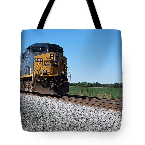 Csx Train Engine Tote Bag by Pamela Baker