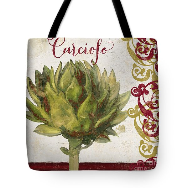 Cucina Italiana Artichoke Tote Bag by Mindy Sommers