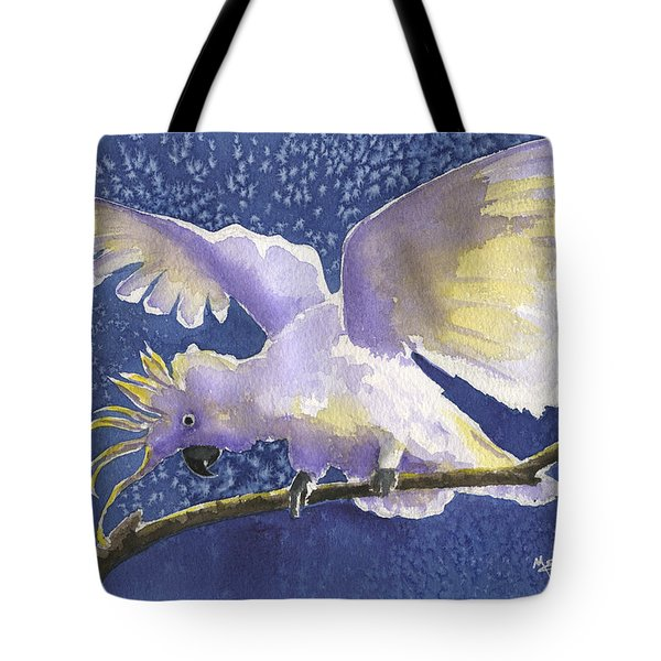 Cuckoo Cockatoo Tote Bag by Marsha Elliott