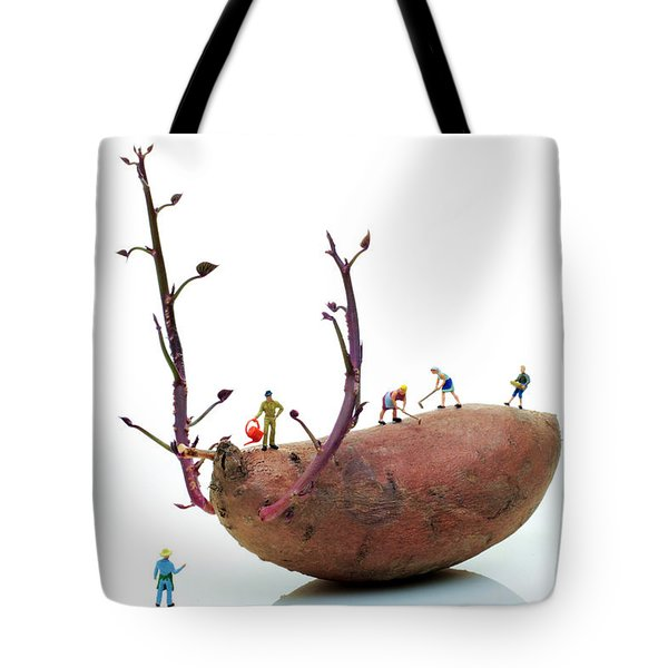 Cultivation On A Sweet Potato Tote Bag by Paul Ge