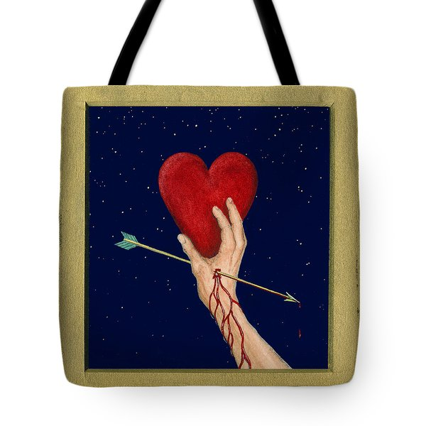 Cupids Arrow Tote Bag by Charles Harden
