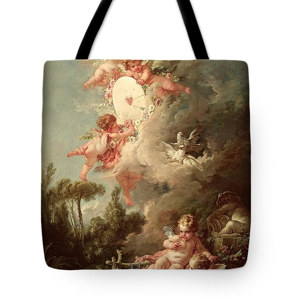 Cupids Target Tote Bag by Francois Boucher