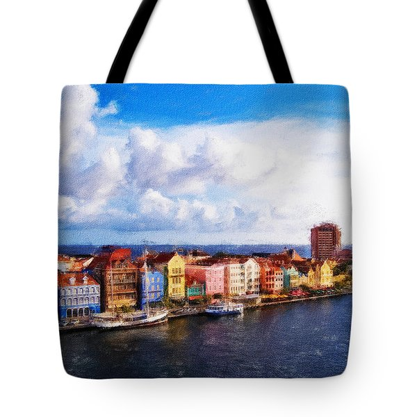 Curacao Oil Tote Bag by Dean Wittle