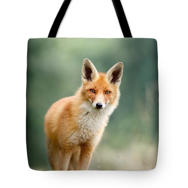 Curious Fox Tote Bag by Roeselien Raimond