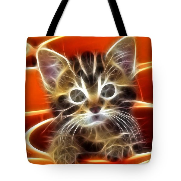 Curious Kitten Tote Bag by Pamela Johnson