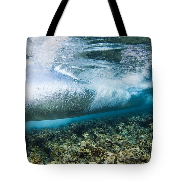 Curl Of Wave From Underwater Tote Bag by Dave Fleetham - Printscapes