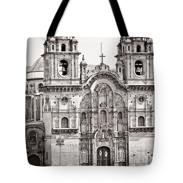 Cusco Cathedral Tote Bag by Darcy Michaelchuk