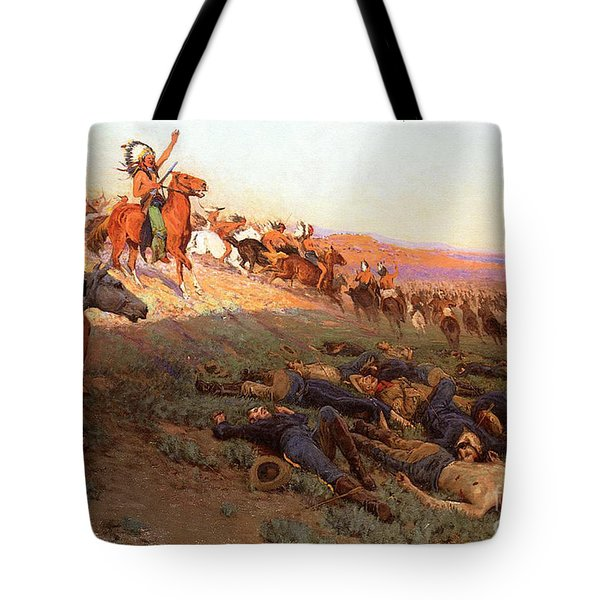 Custer's Last Stand Tote Bag by Richard Lorenz